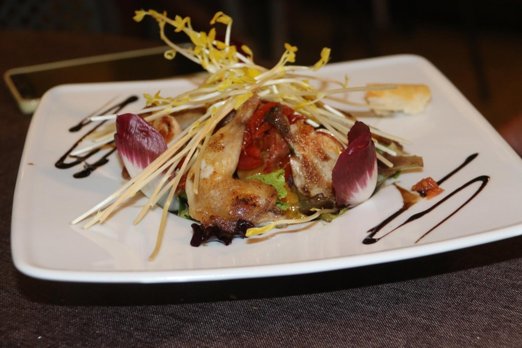 ......and the quail salad