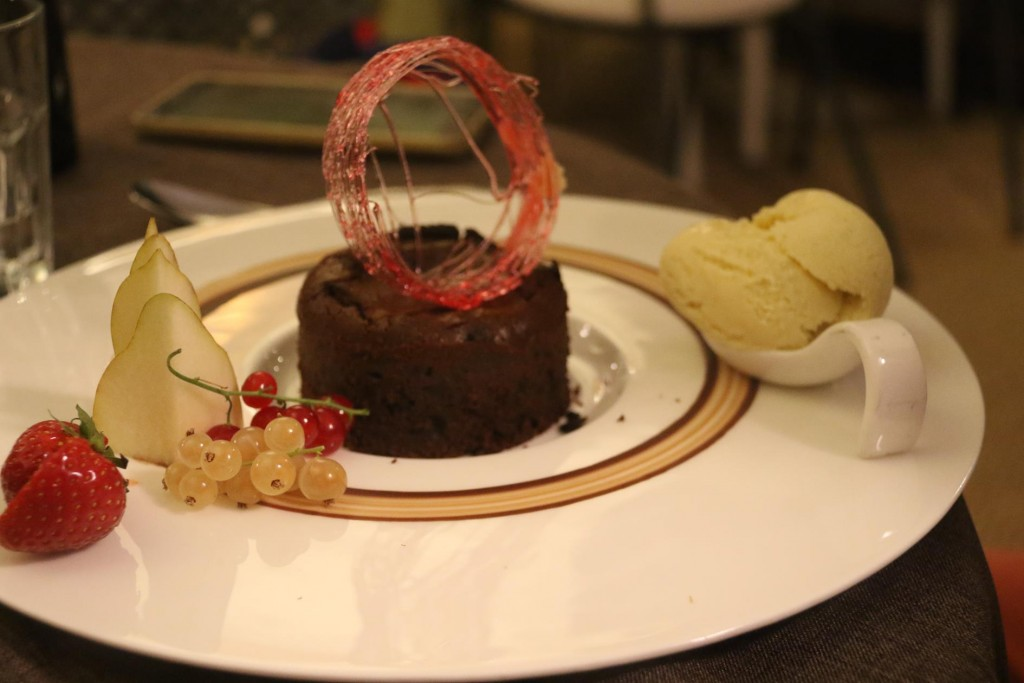 The chocolate dessert was absolutely amazing!!