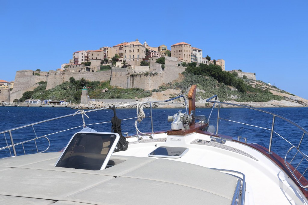 Heading out the port the old walled town looks spectacular