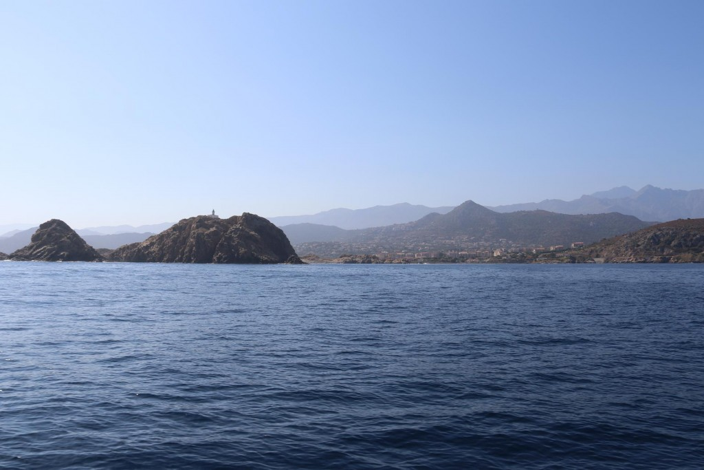 Continuing north east up the west coast we approach Ile Rousse a very popular area for tourists and sailors