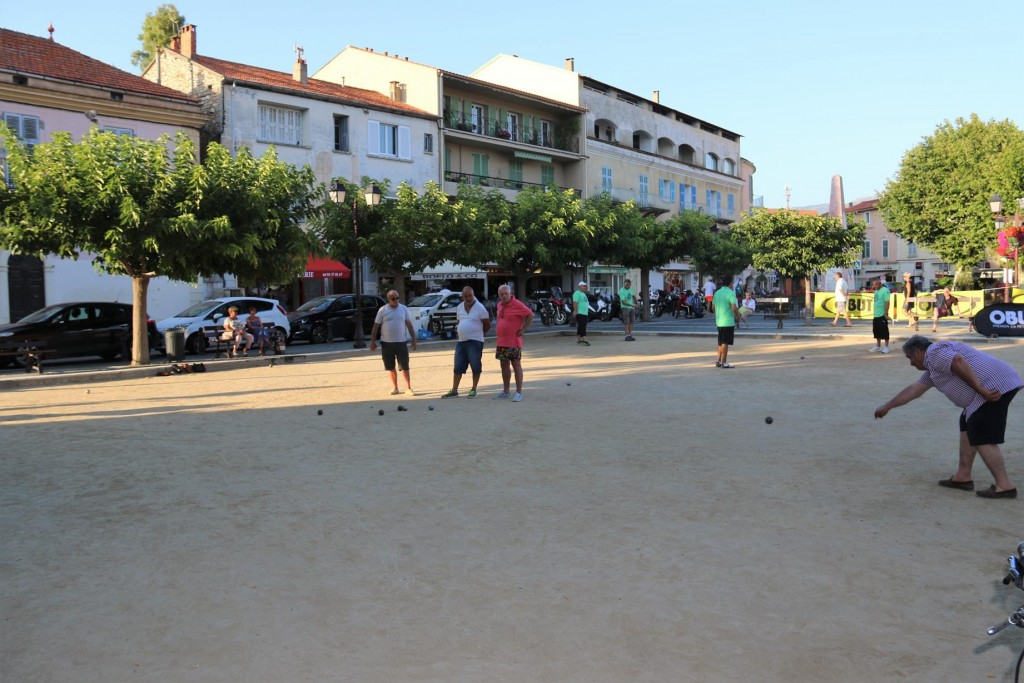 Boules is a popular pastime for the local gents in the town