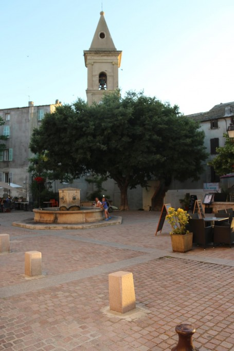 The town square with fountain et al