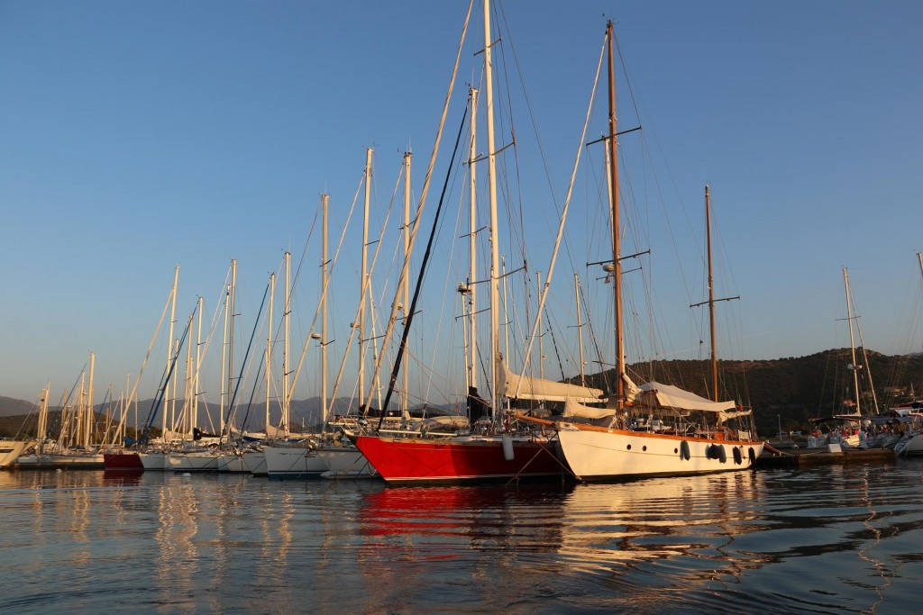 The light this evening over the moored yachts in the port is quite amazing