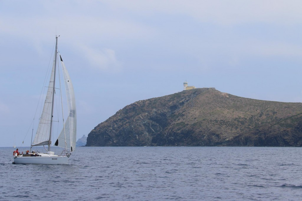Approaching Cap Grosso the northern tip of the island