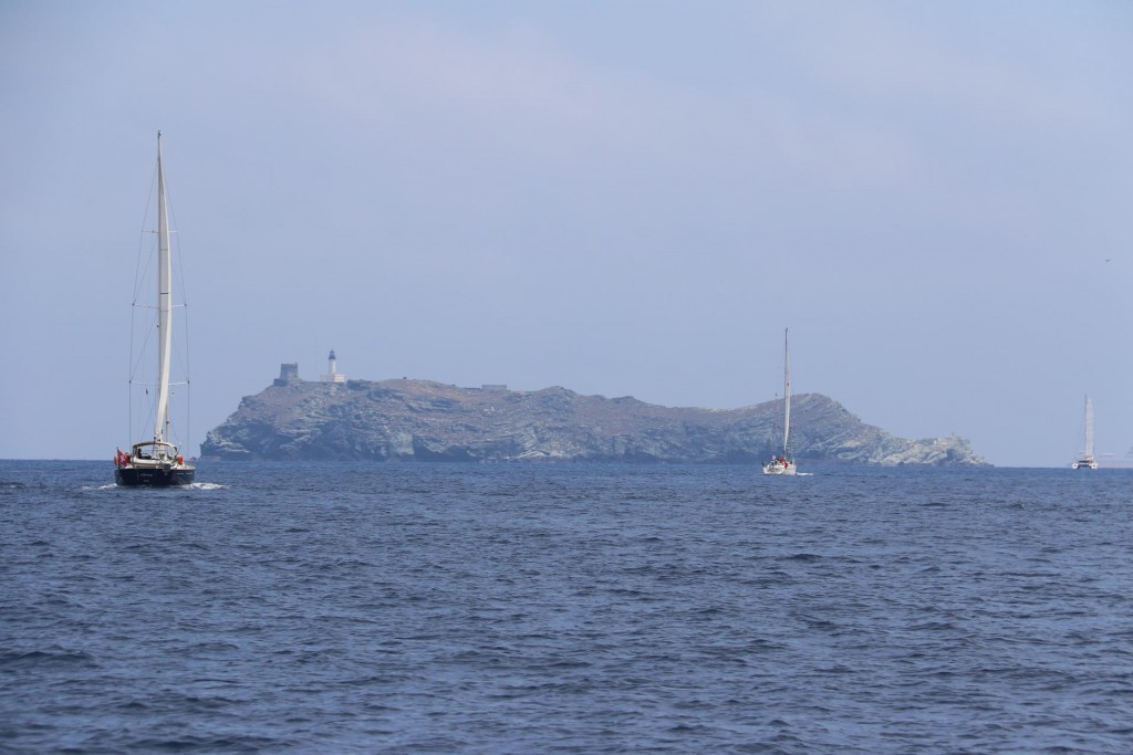Isola de la Giralglia is the island just north of top of the Corsican tip