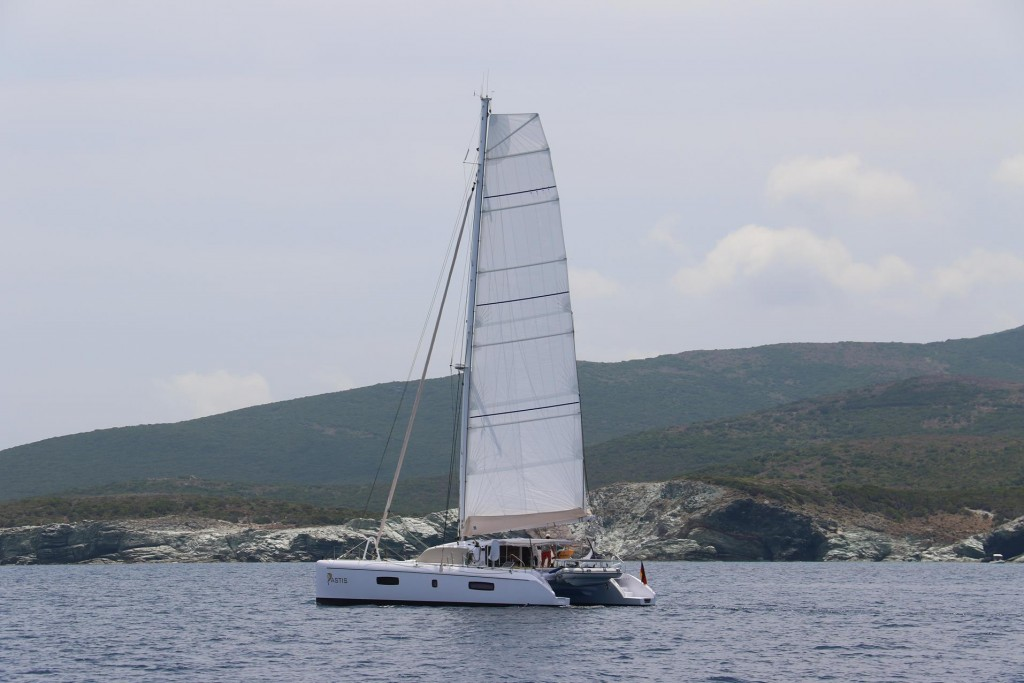 Another yacht sailing in our direction