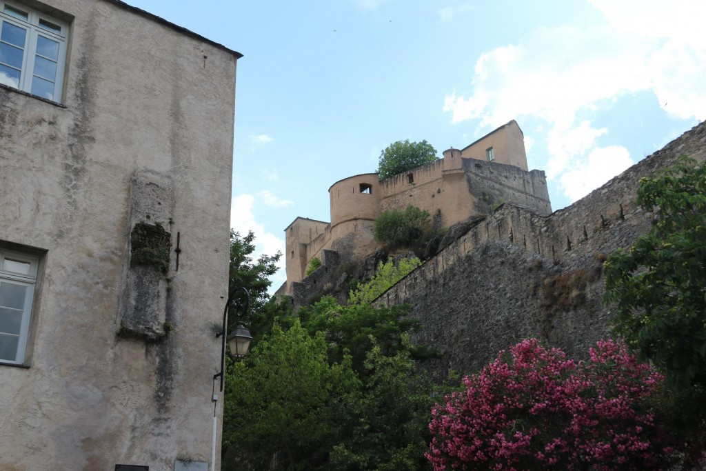 Looking up to the fortress and citadel