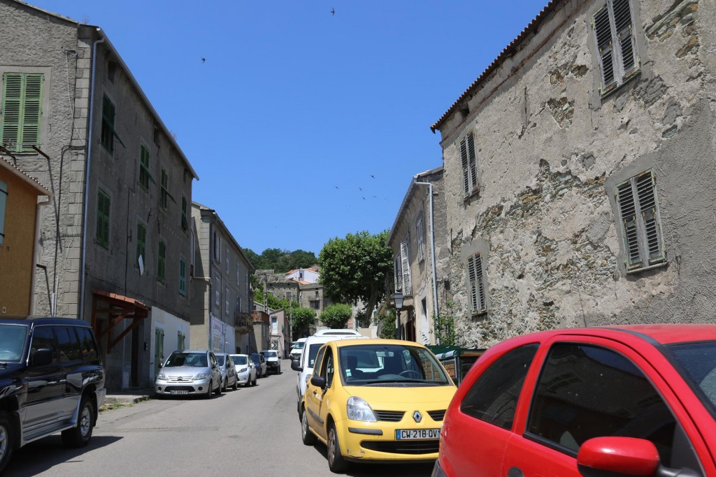 We finally arrive at Murato, a tiny village in the hills west of the Bastia airport