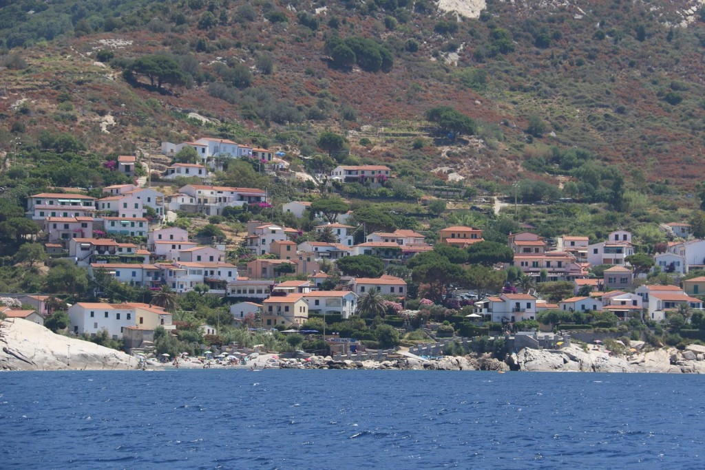 Further around the coast is the village of Chiessi