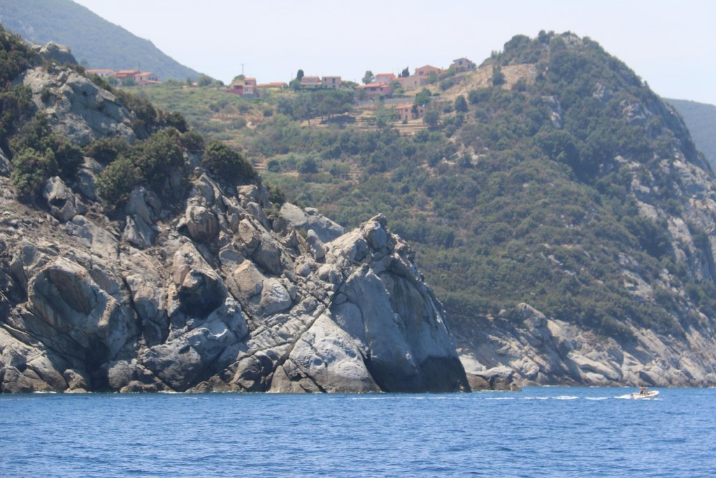 The very rugged west coast has many small hilltop villages