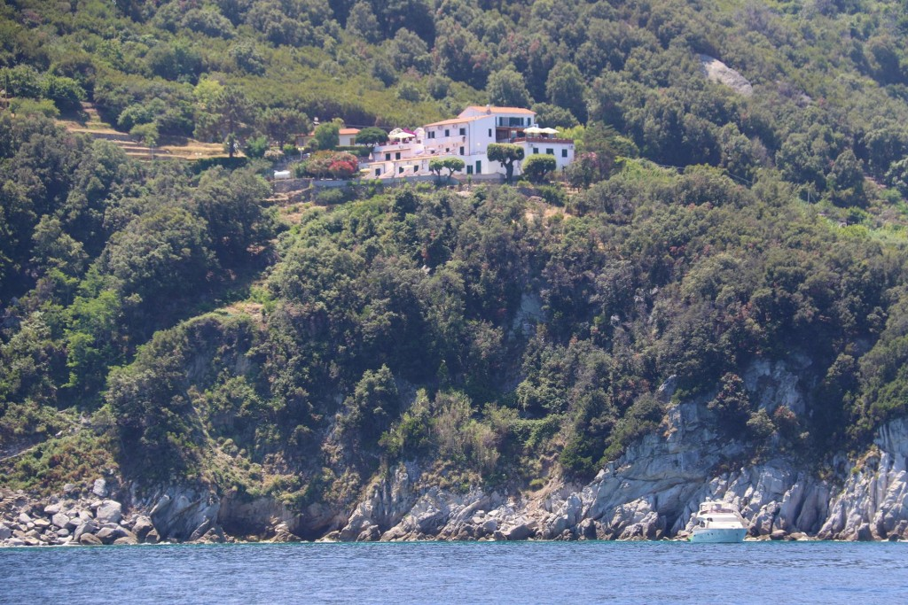 Magnificent villas have been built high above the sea to captivate the views