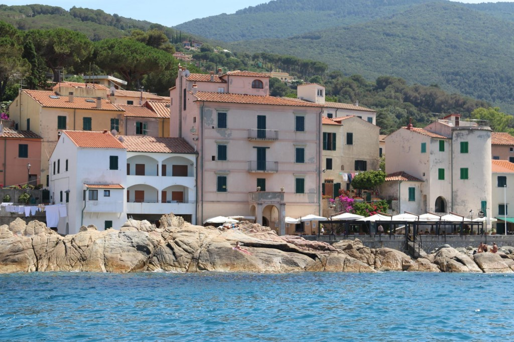 The town of Marciana Marina looks really stunning from the water