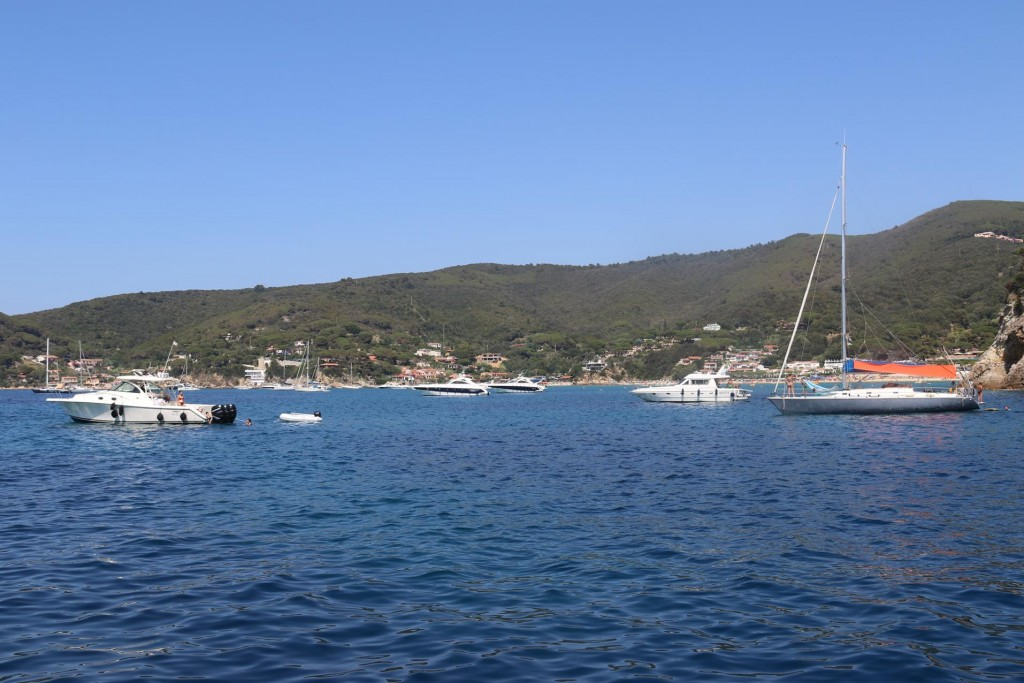 Our quiet overnight mooring became a busy bay for for the day