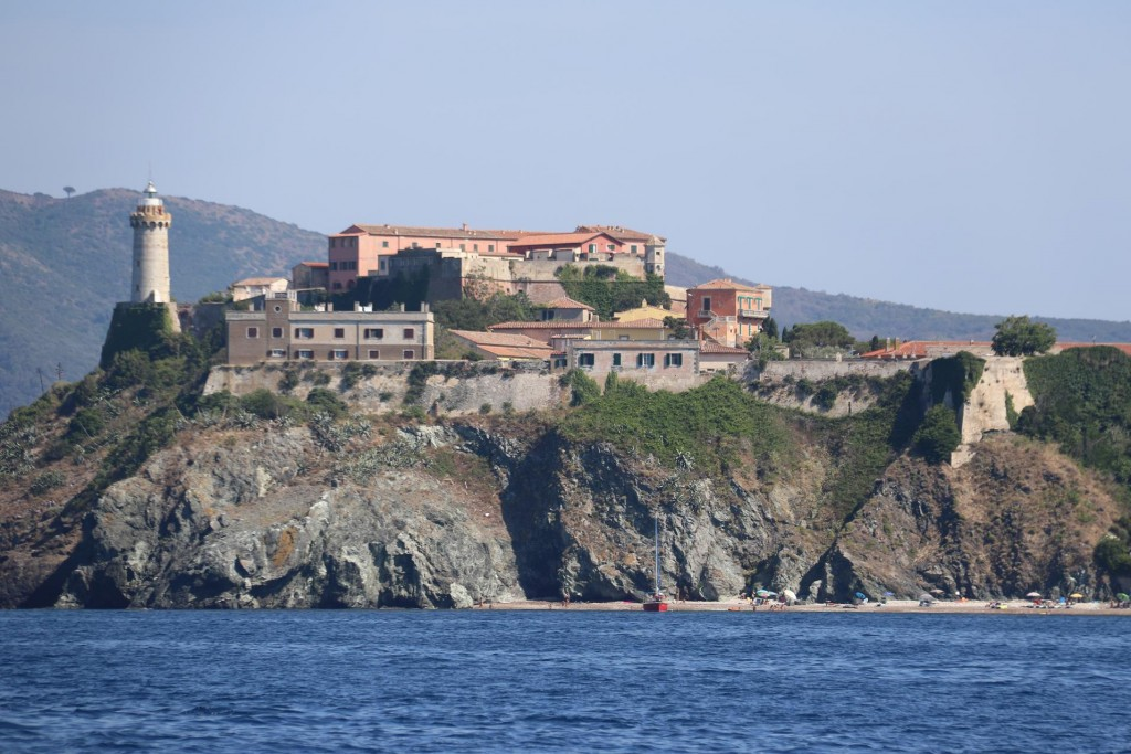 The western approach to fortified town of Portoferraio