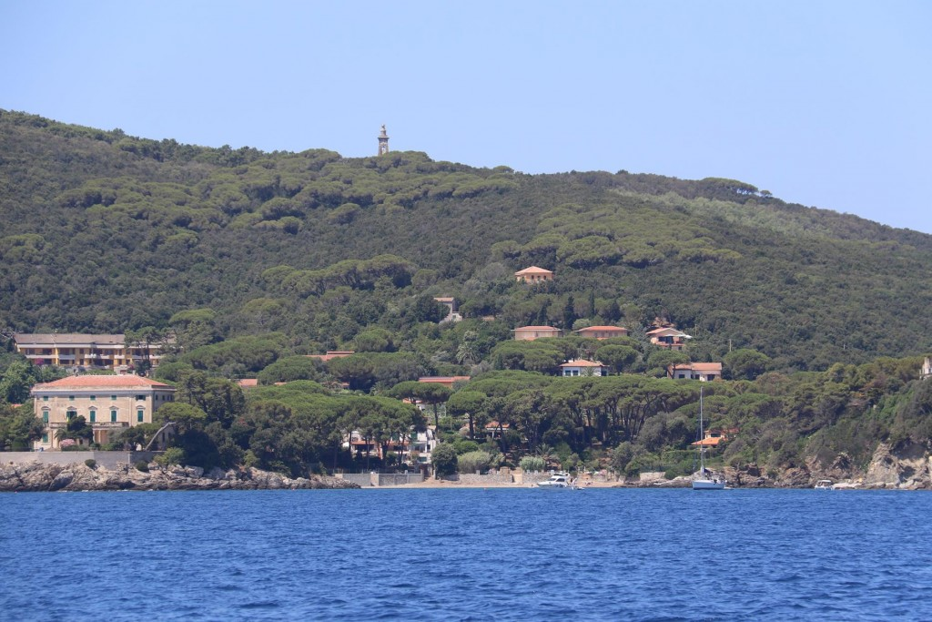 The town of Cavo almost on the north western tip of Isola d'Elba