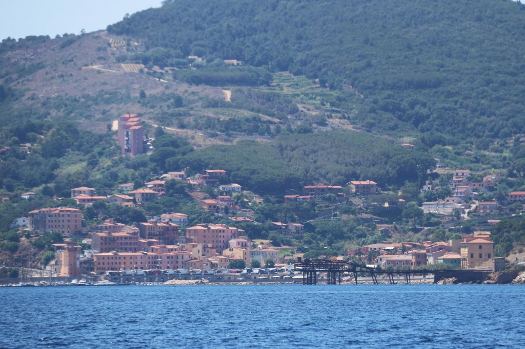 We approach the old mining town of Rio Marina