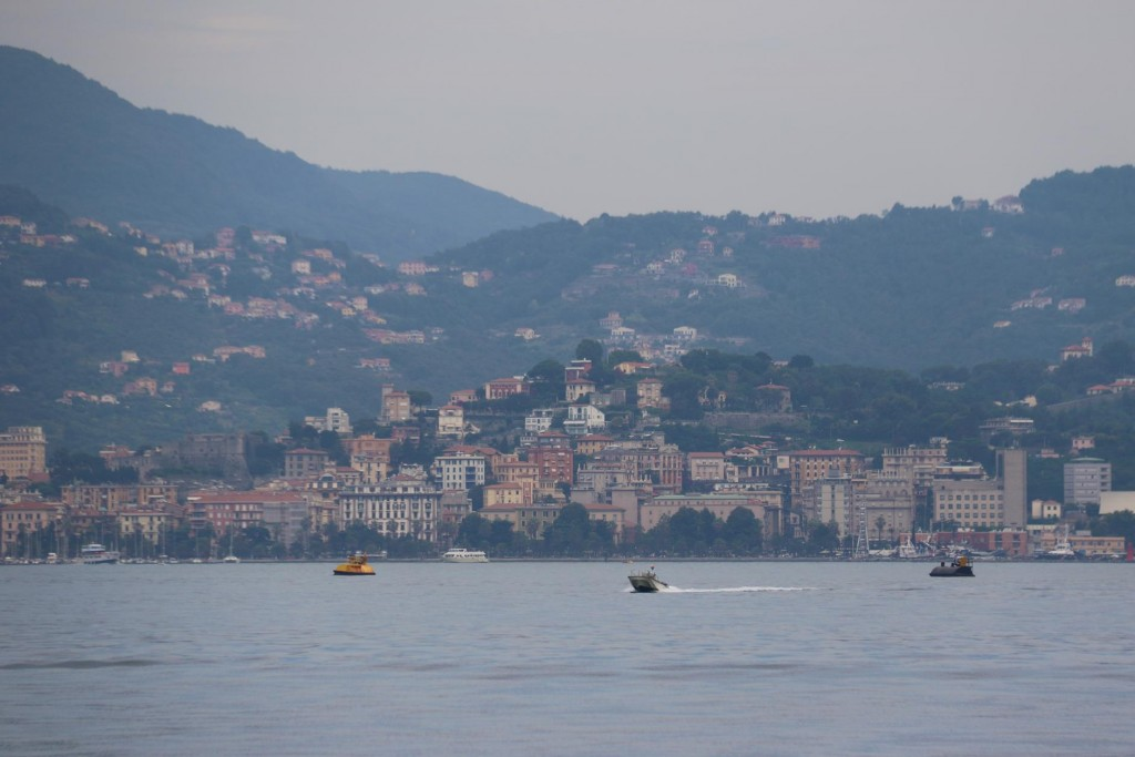 La Spezia is a more industrial town with a commercial port