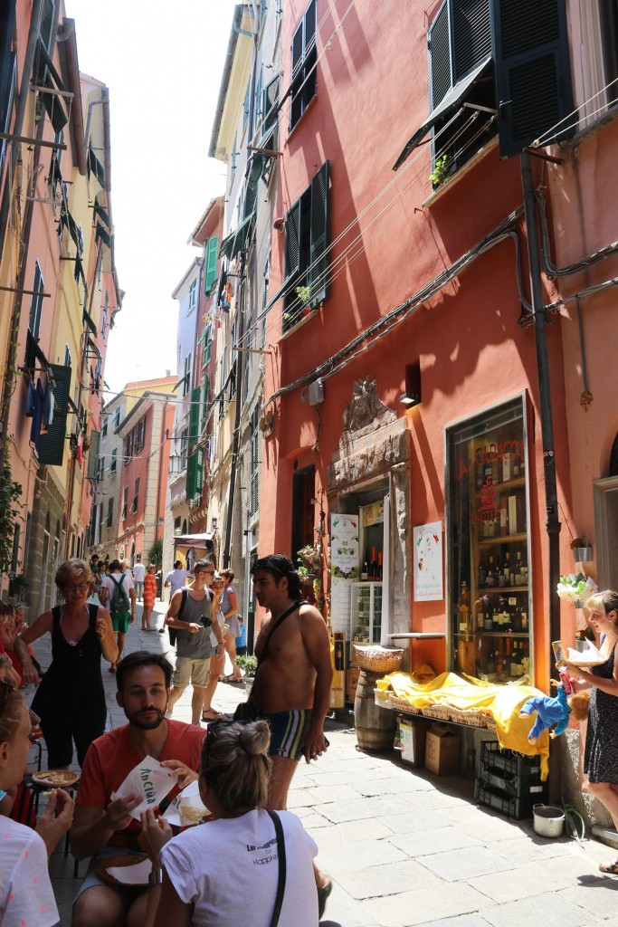 The narrow back streets are busy with tourists