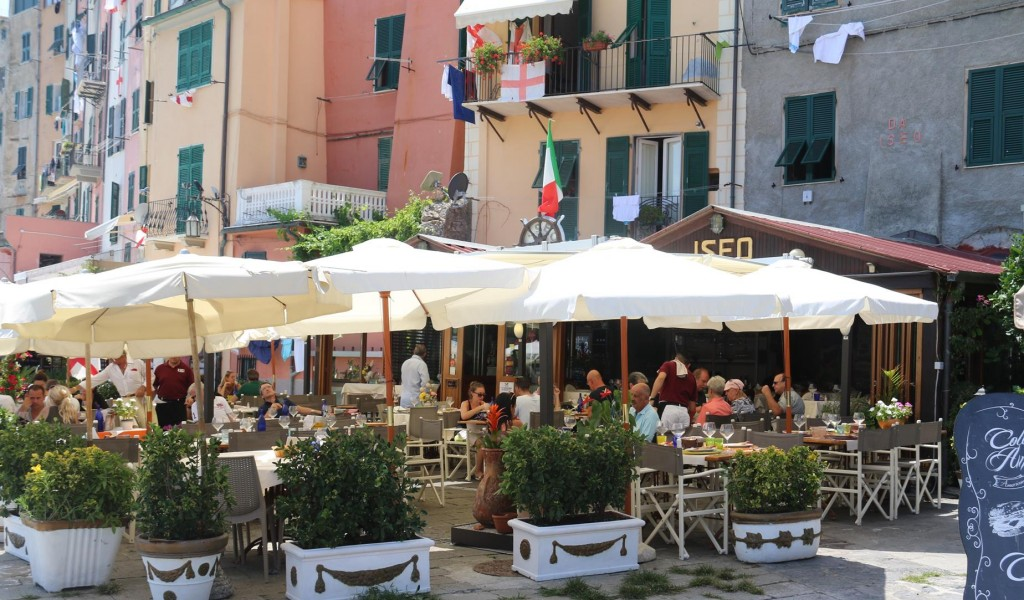 Many restaurants line the foreshore of Portovenere to cater for the thousands of visitors everyday