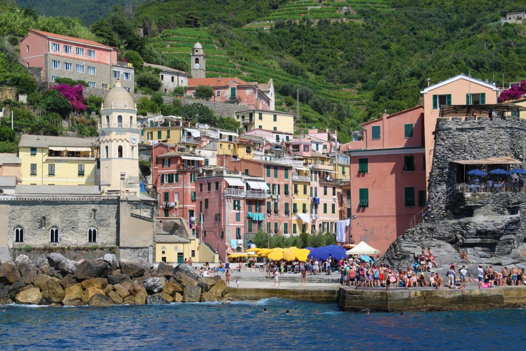 Vernazza is the fourth village heading north west along the coast