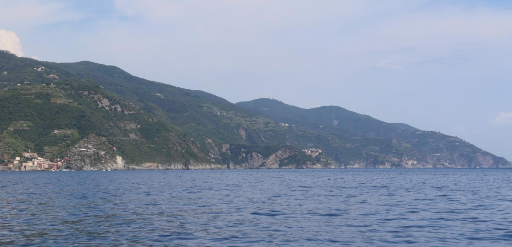 Looking back to the Cinque Terre