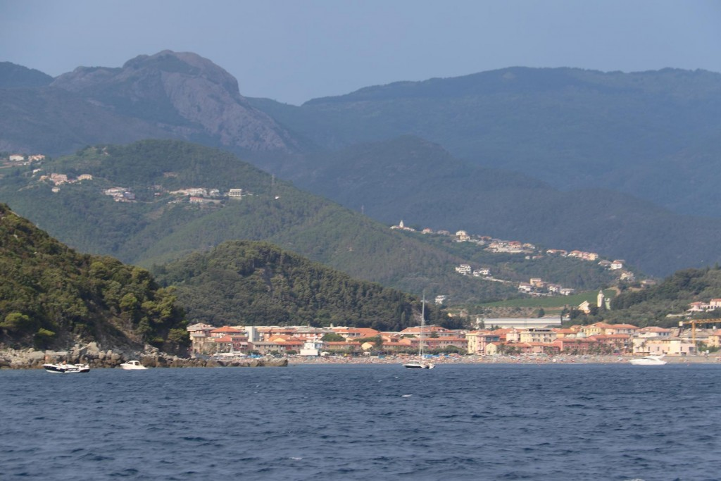 We continue up the coast and pass numerous small towns