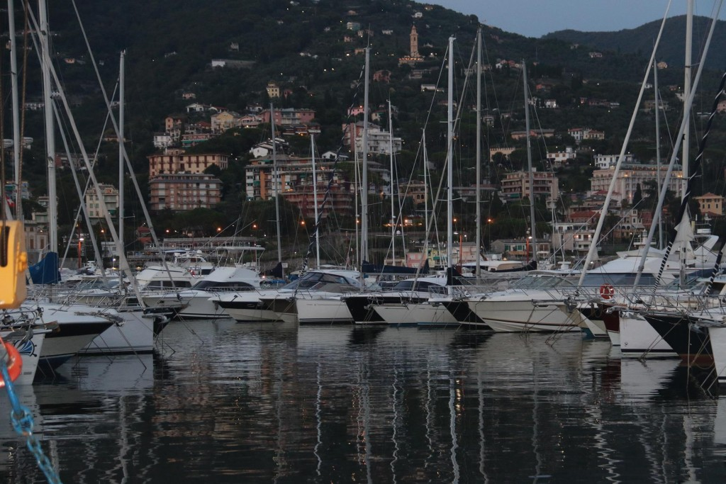 We decided to go into the marina at Rapallo as it was late and we were in an unfamiliar area for anchoring out