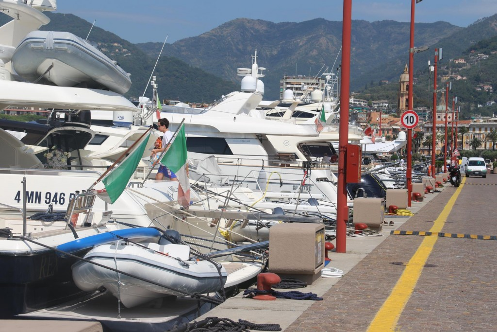 The Carlo Riva Marina with very few empty berths overnight