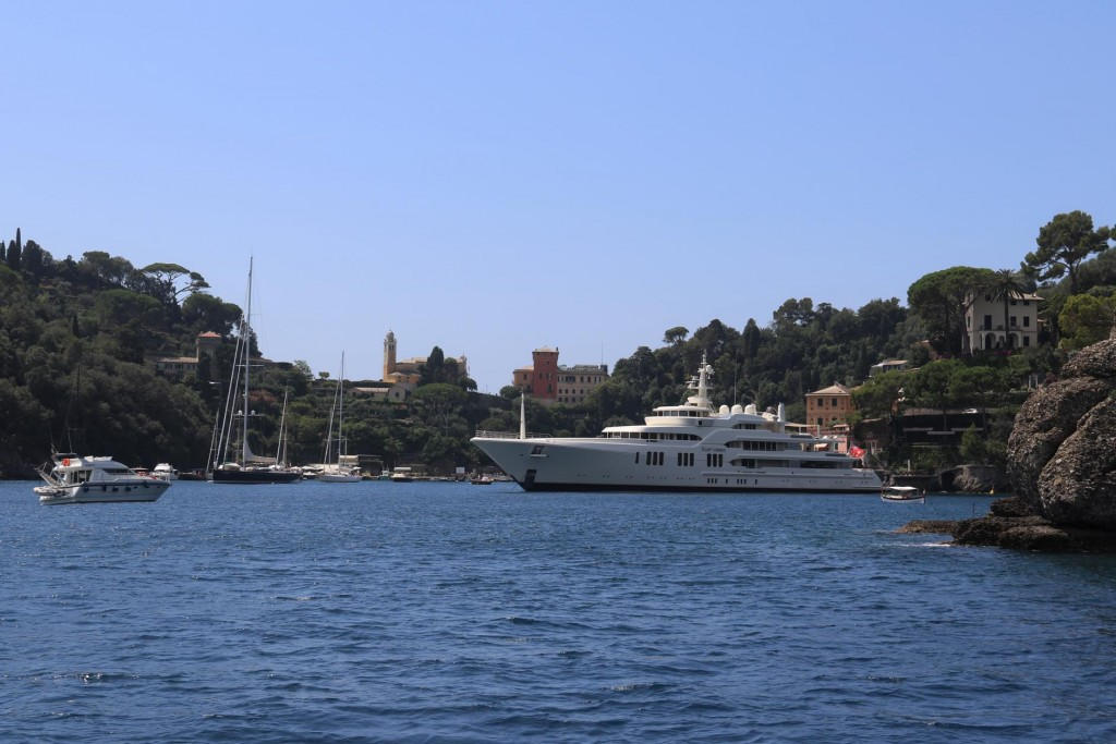 We arrive at the beautiful tiny port of Portofino, where the rich and famous visit
