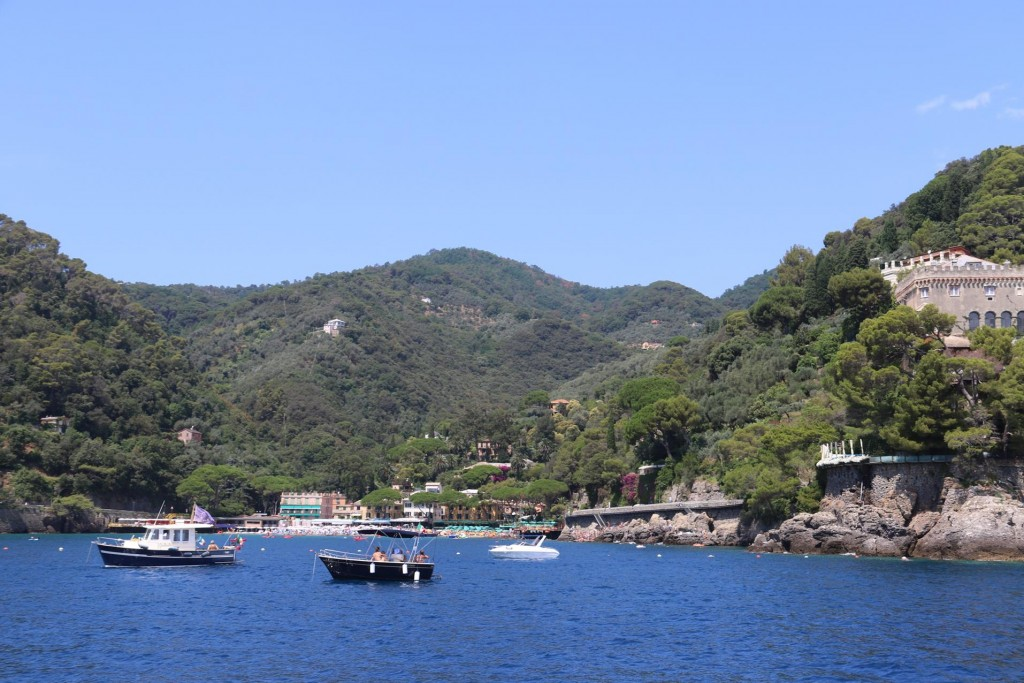 It is possible to anchor in this small bay beside Portofino overnight however we thought Santa Margaherita harbour was a better option