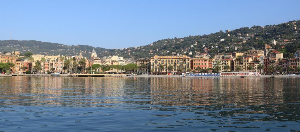We wake up to a wonderful view of Santa Margherita after anchoring in the harbour overnight