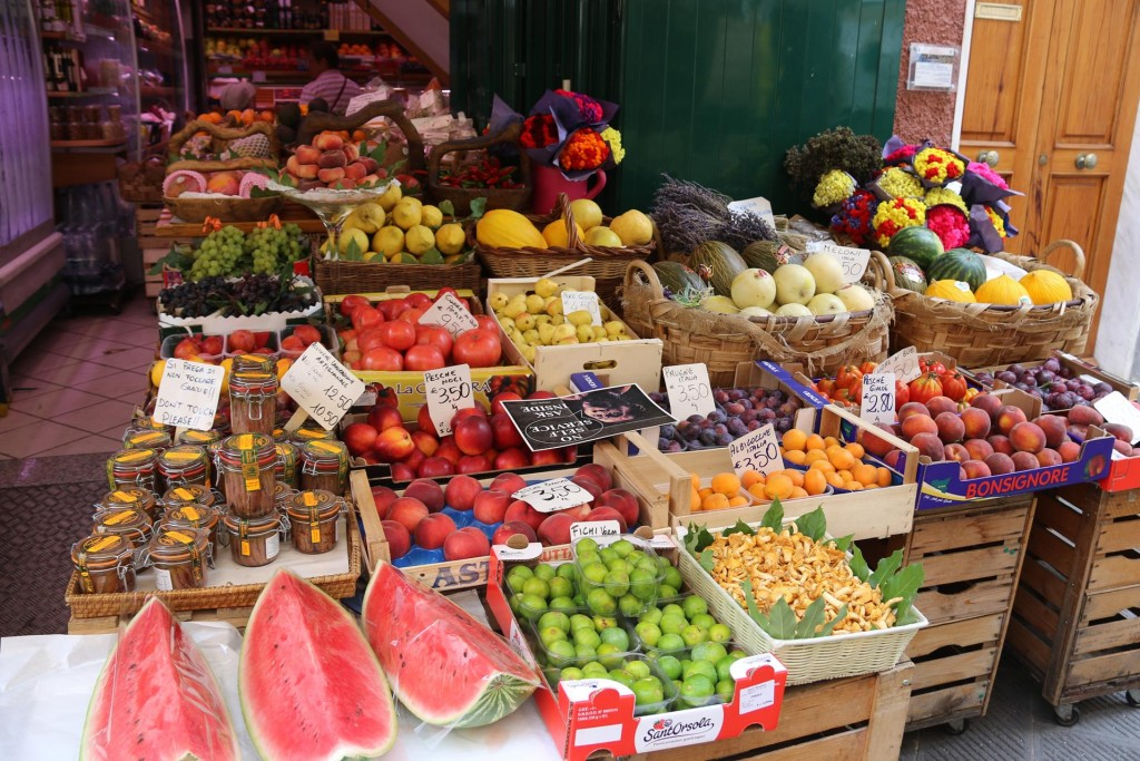 Fabulous fruit and vegetables to take back to the boat from here