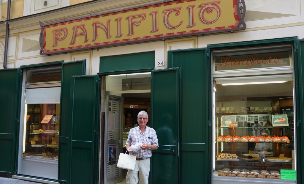 Ric bought some wonderful biscotti in this old well established cake shop