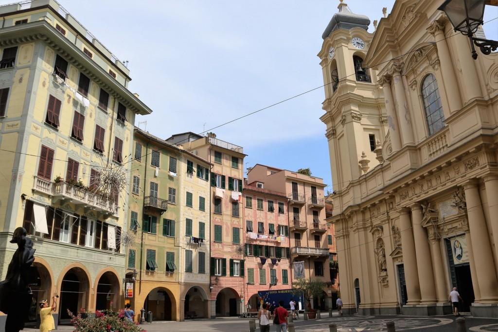 The main large square Piazza Caprera of Santa Margherita
