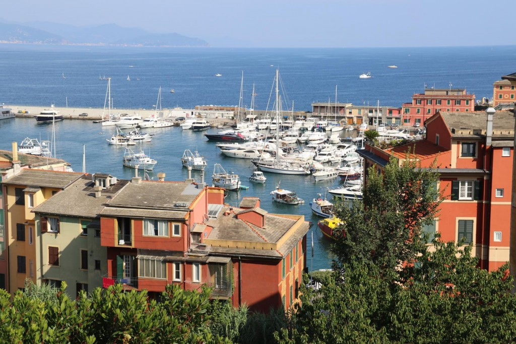 The view is splendid from the beautiful grounds of the gift of the Council to the people of Santa Margherita Ligure and it's visitors