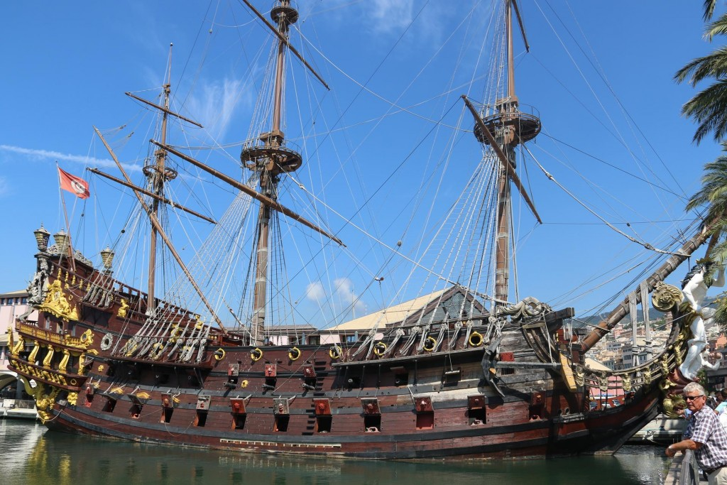 One of the tourist attractions in the Genoa port is the replica of the 17th C Spanish galleon Neptune which was built for the Roman Polanski movie 'Pirates'