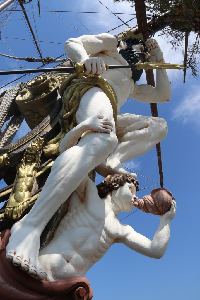 The rather large figurehead on the  Neptune replica