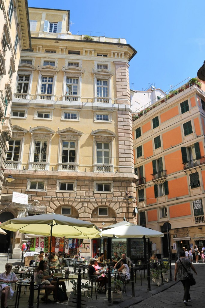 We set off into the old part of Genoa by the port