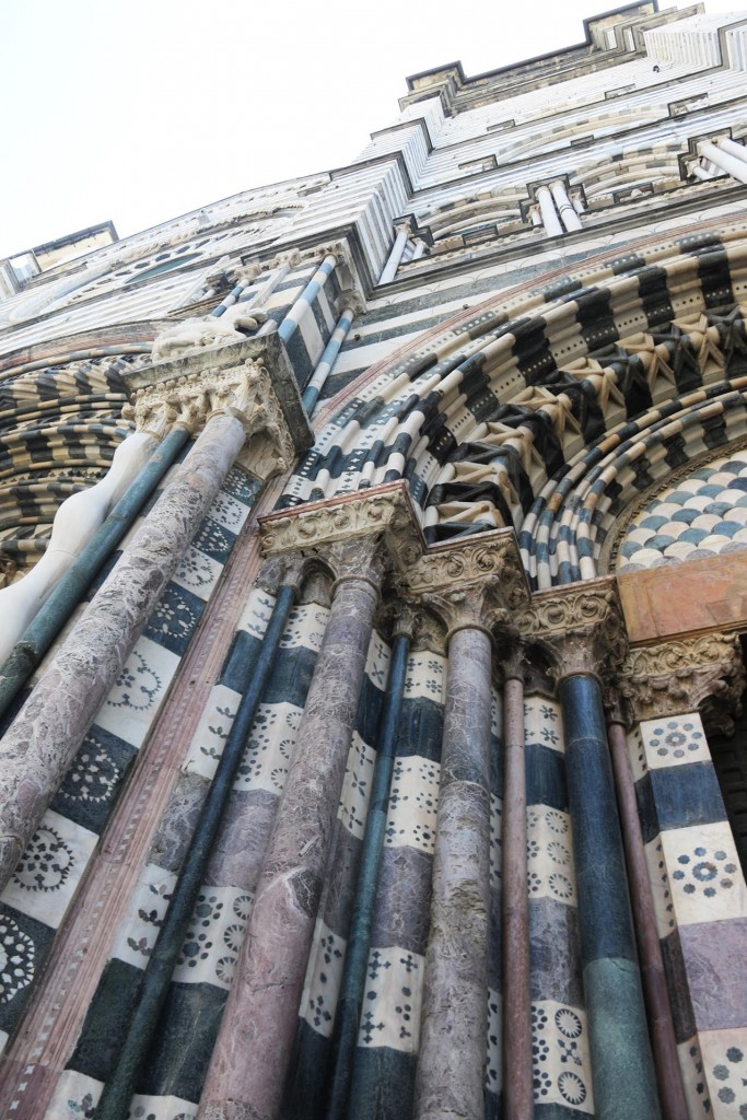 After a fire destroyed much of the church in 1296 the present incredible facade was completed a few  years later in 1312