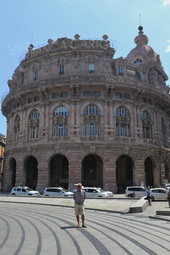 One of the amazing buildings in Piazza Ferrari
