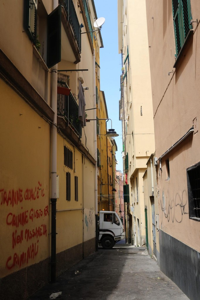 So many narrow alleyways in this area - it is hard to believe this truck managed to pass through