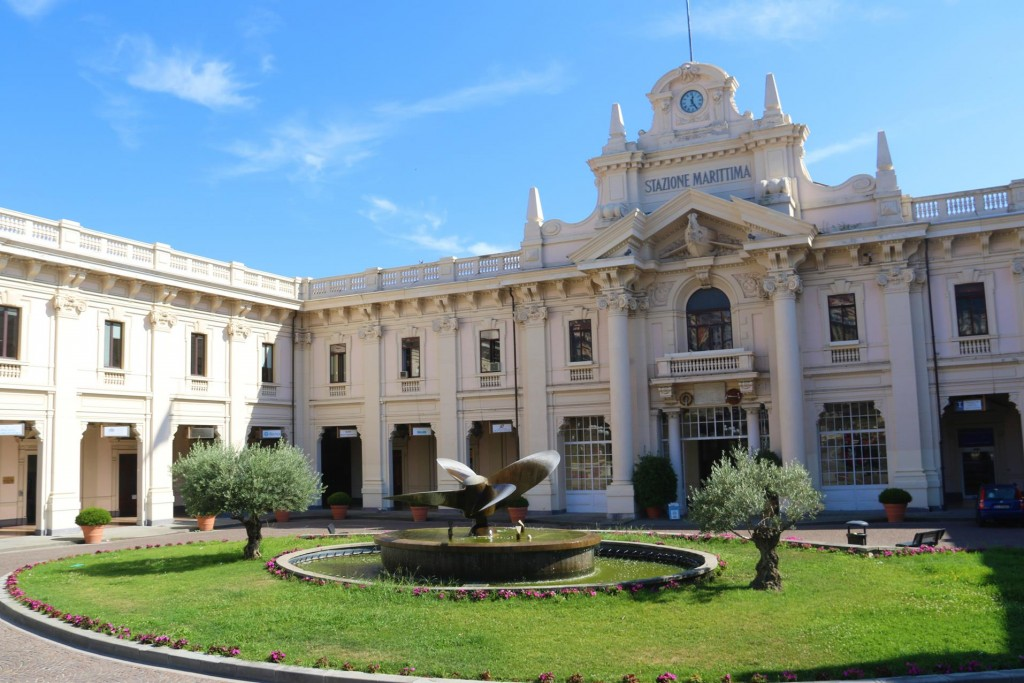 The palacial train station, Stazione Marittima by the port