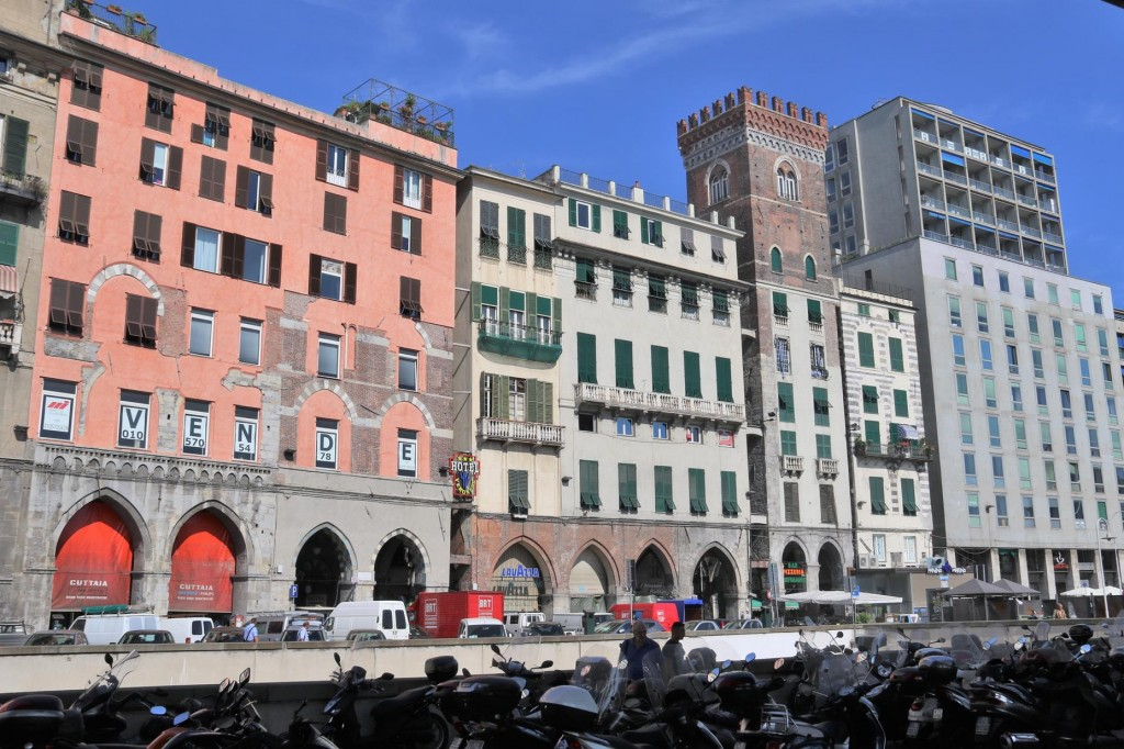 The old buildings of the port by Strada Aldo Moro