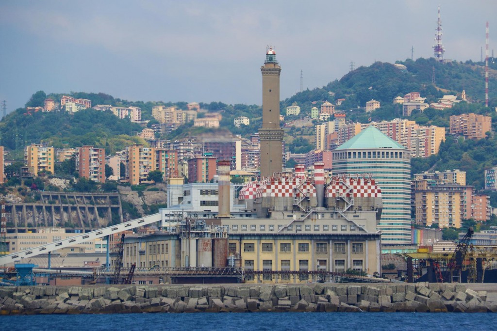 We leave the busy port of Genoa and continue south west along the Italian coast