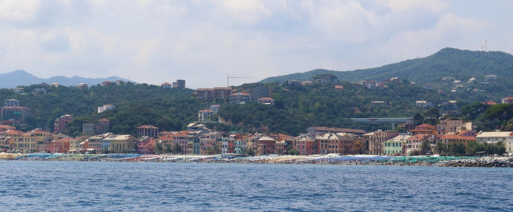 As we continue down the coast we pass the town of Varazze