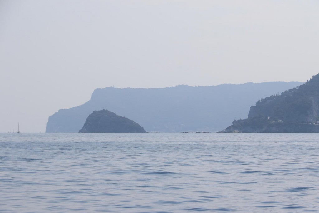 In the distance we can see Isola Bergeggi by the town of Vado