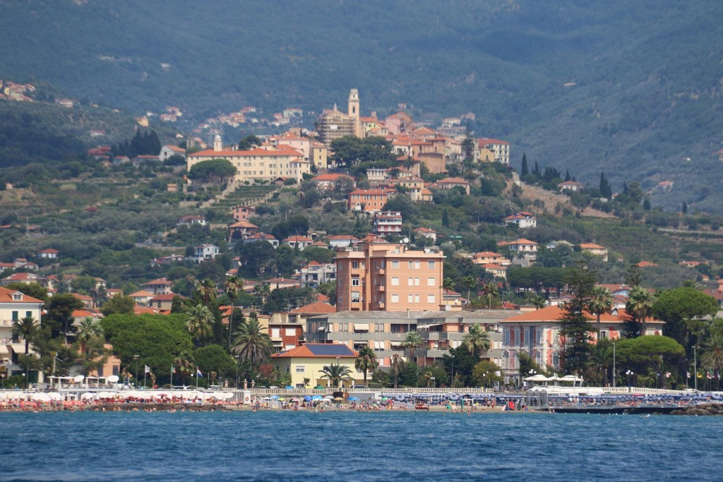 Beach side towns along this coast of the Italian Riviera are very popular in summetr