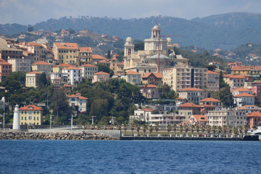 The combining of 2 towns in 1923 of, Porto Maurizio and Oneglia is now called Imperia Ponente