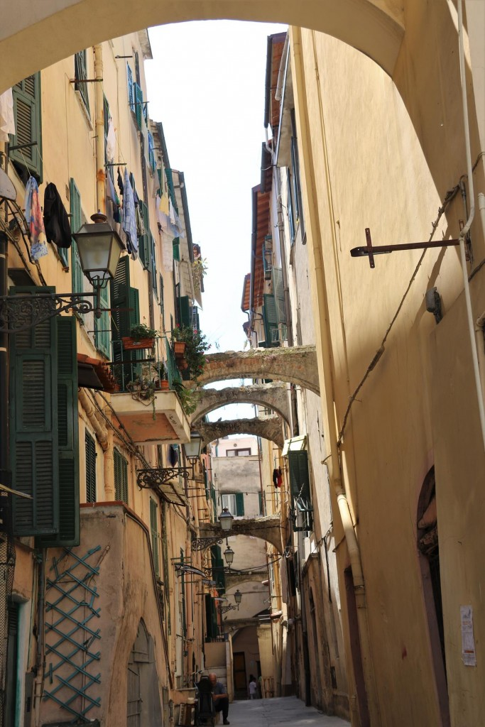 In the ancient part of San Remo you can explore the very narrow alleyways of the old town