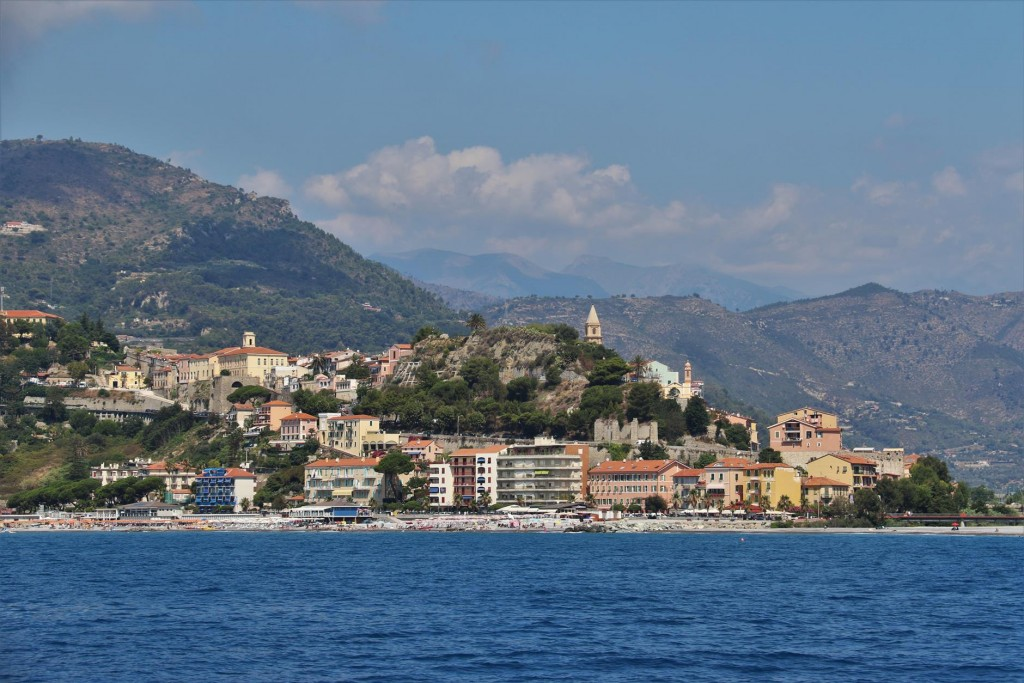 The Italian town of Ventimiglia just before the French/Italian border